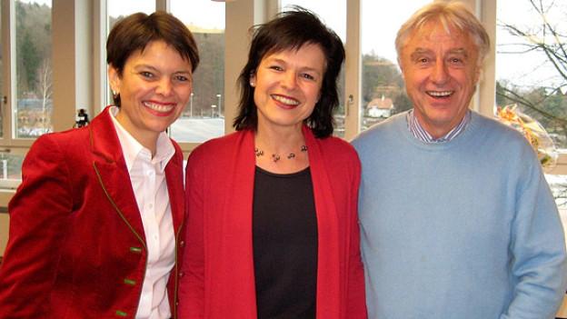 Regi Sager (m.) Niccel und Emil Steinberger.