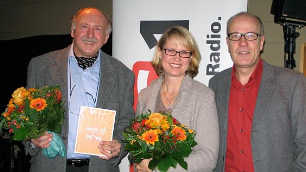 Daniel Hitzig (r.) mit Sybil Schreiber und Walter Finkbohner.