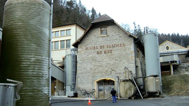 Produktionsgebäude Salzsaline Ansicht von Aussen.