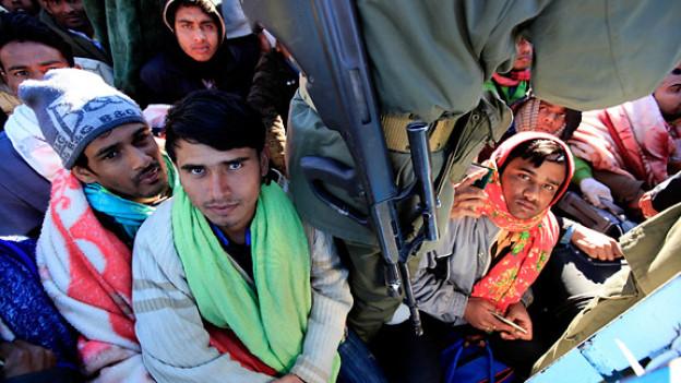 Sitzen an der libysch-tunesischen Grenze fest: Gastarbeiter aus Bangladesch.