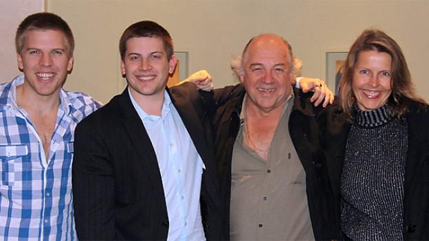 Edmond Thommen mit seiner Frau Gabi und den beiden Söhnen Oliver und Daniel
