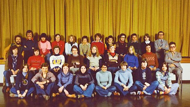 Klassenfoto 3. Sek Wollerau 1976.
