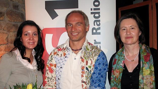 Katharina Kilchenmann (r.) mit Michelle Zimmermann und David Dimitri.