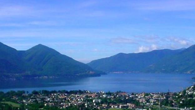 Lago Maggiore von Locarno Monti aus.