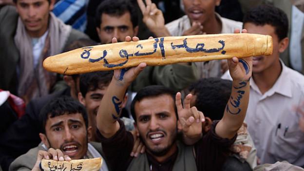 In Jemen fordern Demonstranten die Absetzung von Präsident Ali Abdullah Saleh (2. April 2011).