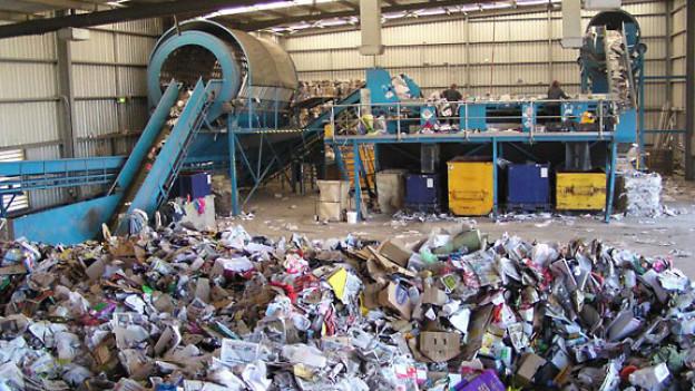 Müllsortieranlage.