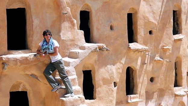 Doch einmal Zeit für Urlaub: Erik Burckhardt in Tunesien.