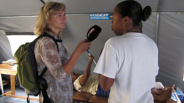 DRS 1-Moderatorin Ladina Spiess zu Besuch in Haiti.