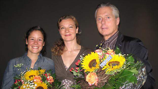 Seraina Campell, DRS 1-Gastgeberin Karin Frei und Ludwig Hatecke.