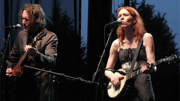 Gillian Welch mit ihrem festen Partner David Rawlings.