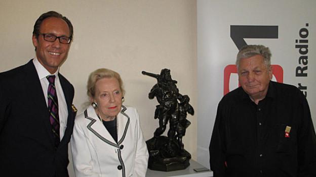 DRS 1-Gastgeber Christian Zeugin, Heidy Weber-Wiget und Adalbert Kälin.
