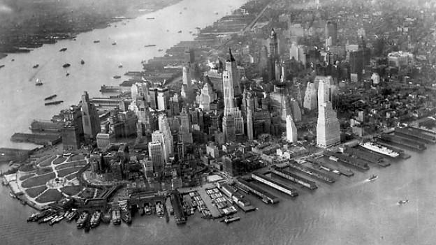 Der Stadtteil Manhattan, etwa 1930.