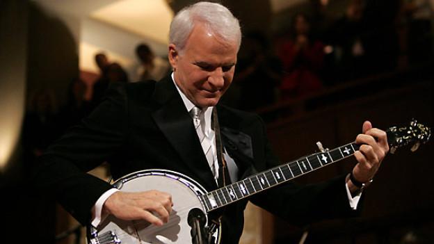 Steve Martin mit seinem Banjo in Washington, 2005.
