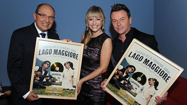 Francine Jordi und Florian Ast in der Sendung Benissimo am 1. Oktober 2011.