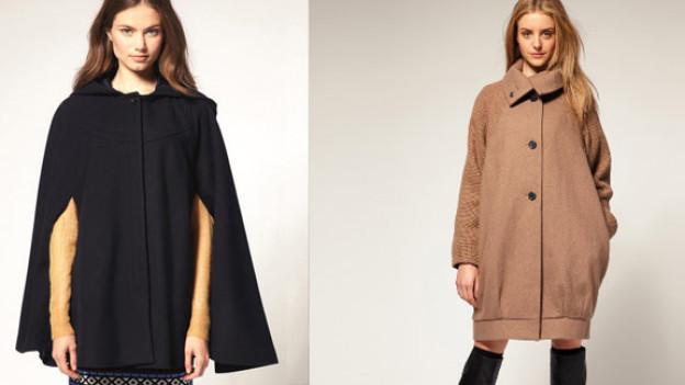 Diese Mäntel sind diesen Winter in: Capes- und Eggshape-Mantel.