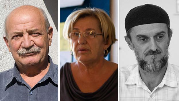 Osren Stanimirovic, Zoric Baricic und Mubin Ocanovic (v.l.n.r) erzählen im Doppelpunkt, was sie während des Bosnienkrieges erlebt haben, wie ihre Situation heute aussieht und was sie sich für die Zukunft wünschen.