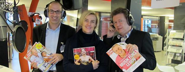 Stefan Regez (Redaktionsleiter Schweizer Illustrierte), Lisa Feldmann (Chefredaktorin Annabelle) und Daniel Dunkel (Chefredaktor Schweizer Familie).