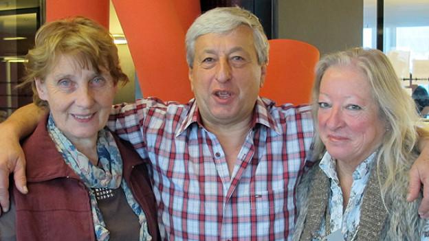 Die drei Nominierten für die Wahl «Helden des Alltags»: Verena Stauffer, Ennio Unfer und Maxi Märki (v.l.n.r.).