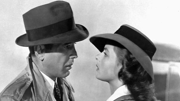 Humphrey Bogart und die Schwedische Schauspielerin Ingrid Bergman in einer Szene aus dem Film «Casablanca», 1943.