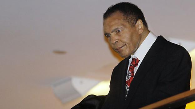 Muhammad Ali an seiner Geburtstagsfeier in Louisville, Januar 2012.