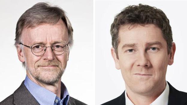 Deutschland-Korrespondent Casper Selg und London-Korrespondent Peter Balzli.