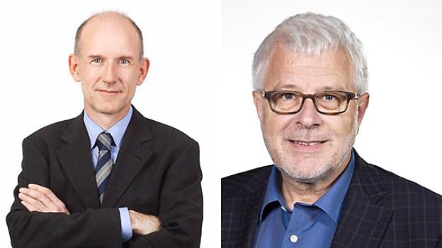Die Auslandkorrespondenten Patrik Wülser und Peter Gysling.