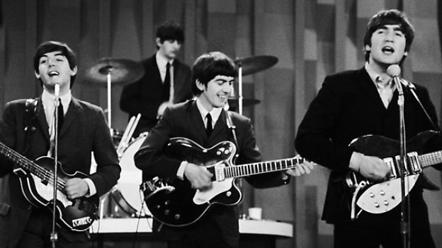 The Beatles in der «Ed Sullivan Show» in New York, 1964.