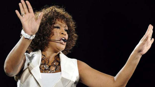 Whitney Houston bei einem Auftritt in der Schweiz.