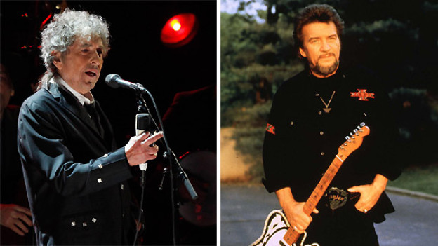 Bob Dylan und Waylon Jennings.