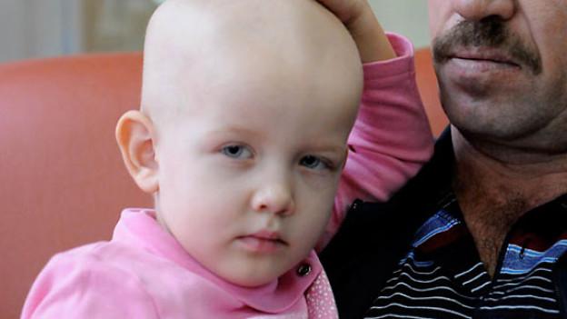 Das Foto wurde aufgenommen in der Kinderkrebsklinik in Minks.
