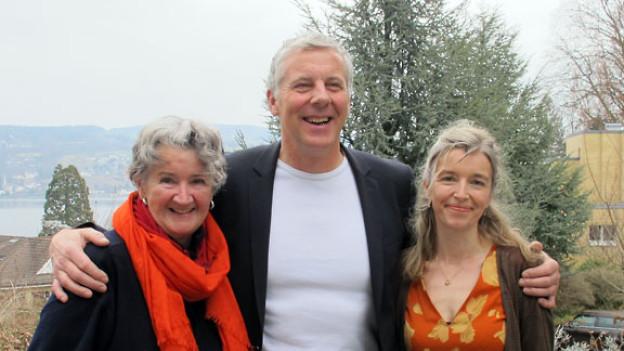 Monika Borner, Bruno Saile und Anita Richner