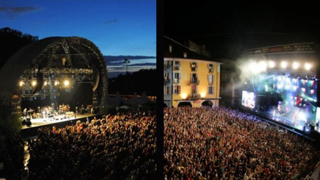 Wer tritt wo auf? Die Bühnen auf der Zürcher Eisbahn Dolder und auf der Piazza Grande in Locarno.