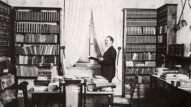 Karl May in seinem Arbeitszimmer