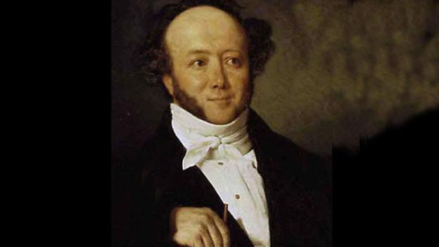 Portrait von Jeremias Gotthelf um 1844.