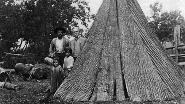 Karl May 1908 bei den Tuscarora-Indianern.