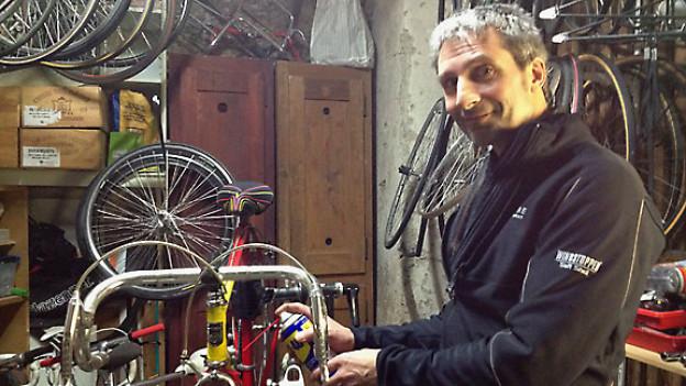 Hobby-Velomechaniker Marco Beier.