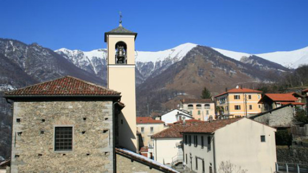 Panoramafoto über den Malcantone.