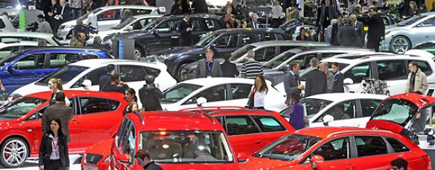 Zu Besuch beim Autosalon Genf, 2011.
