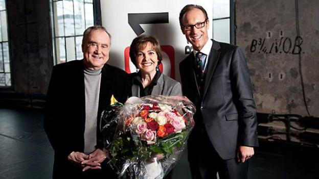 Kurt und Paola Felix mit Gastgeber Christian Zeugin.