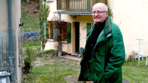 Pierre Kretz vor seiner Schreibklause.