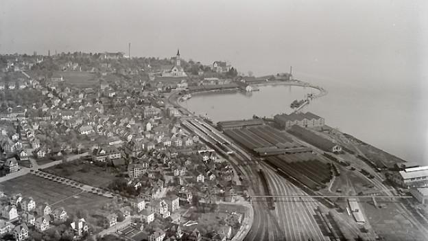 Luftbild von Romanshorn.