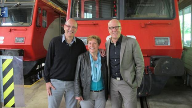 v.l.n.r. Thomas Mayer, Rösli Kuster, Daniel Hitzig