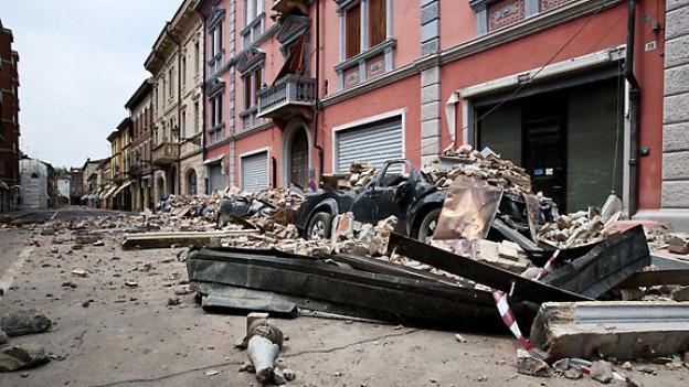 Nach dem Erdbeben in Concordia sulla Secchia, Italien, 31. Mai 2012.