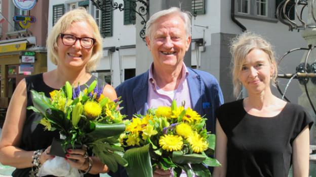 v.l.n.r. Jeannine Pilloud, Freddy Burger, Anita Richner
