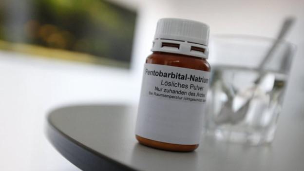 Das Mittel «Pentobarbital» kommt bei der Sterbehilfe zum Einsatz.