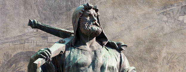 Wilhelm Tell-Denkmal in Altdorf von 1895.