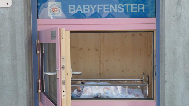 Das neu eröffnete Babyfenster in Davos.