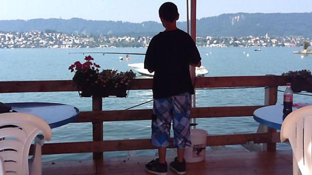 Am Ufer des Zürichsees.