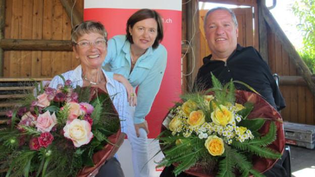 Vreni Brenner, Katharina Kilchenmann und Christian Lohr