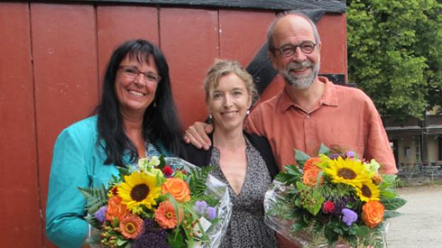 V.l.n.r. Marianne Streiff, Anita Richner und Lorenz Hasler